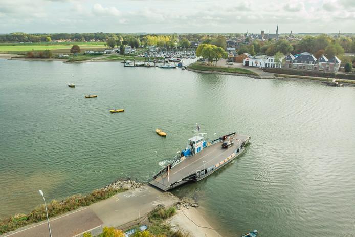 De pont bij Culemborg vanuit de lucht
