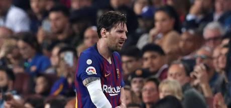 Barça houdt adem in bij blessure Messi