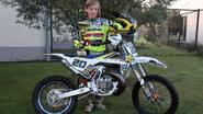 Jarno (10) is vicekampioen motorcross