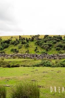 Autoroute in het ruige Dartmoor National Park