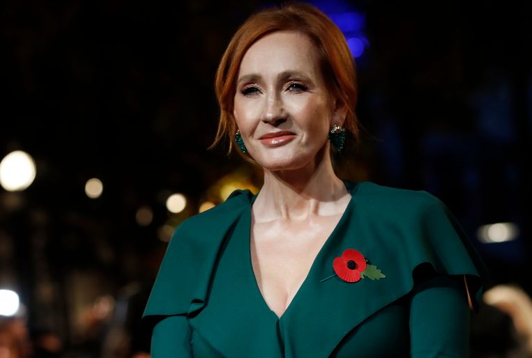 J.K. Rowling op de wereldpremière van de film 'Fantastic Beasts: The Crimes of Grindelwald' op 8 november 2018 in Parijs.