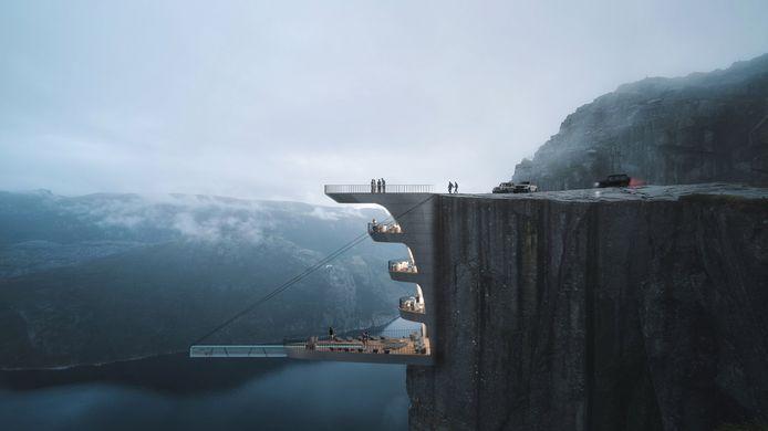 Spectaculair uitzicht over de fjorden.