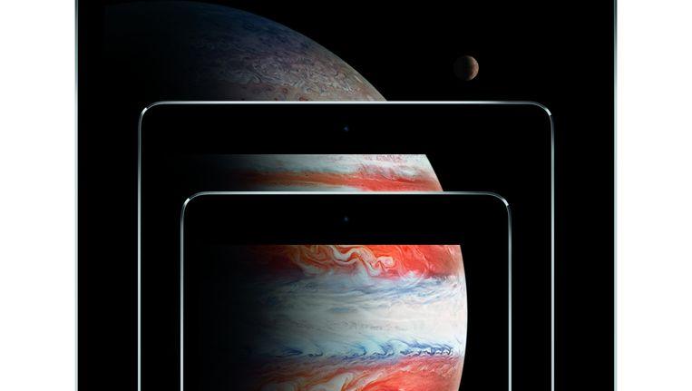 Alle formaten iPads op een rij. Beeld