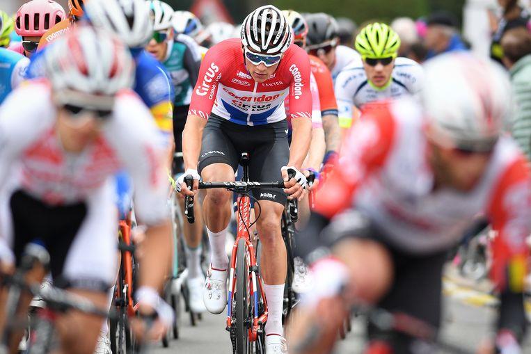 Mathieu Van der Poel tijdens de 59e editie van de Brabantse Pijl. Beeld BELGA