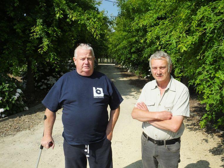 Philip Meheus en Peter Bral van Milieufront Omer Wattez.