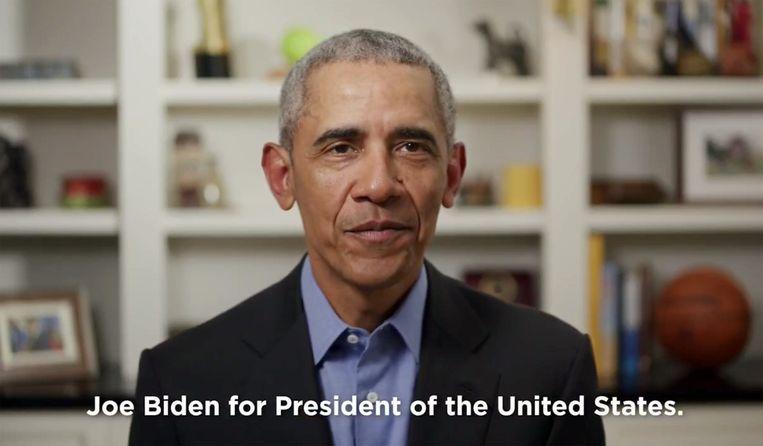Obama verklaart zijn vicepresident Joe Biden zijn steun in de race naar het presidentschap.