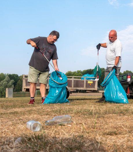 Enorme bende afval rondom de Rijkerswoerdse Plassen, elke dag weer