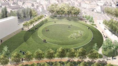 Bouw van nieuw park aan Ninoofsepoort begonnen