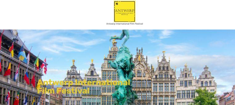 Een screenshot van de website van het nieuwe Antwerpse filmfestival