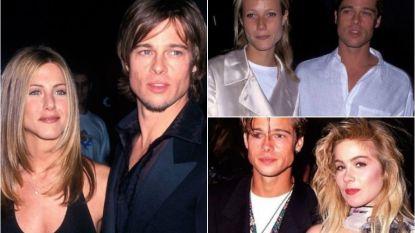 Het bewogen liefdesleven van Brad Pitt: de man die verliefd is op romantiek en daar al 16 keer een gebroken hart aan overhield