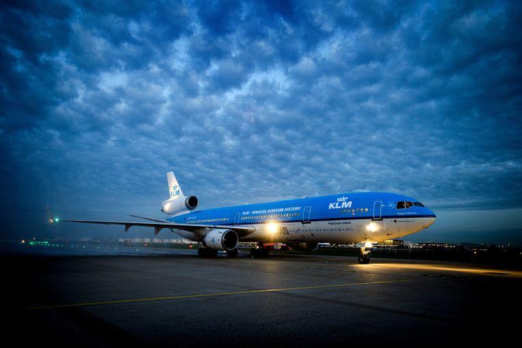 KLM is volgens de staatssecretaris op de hoogte van incidenten en mogelijke rakettesten in het luchtruim van Noord-Korea Beeld ANP