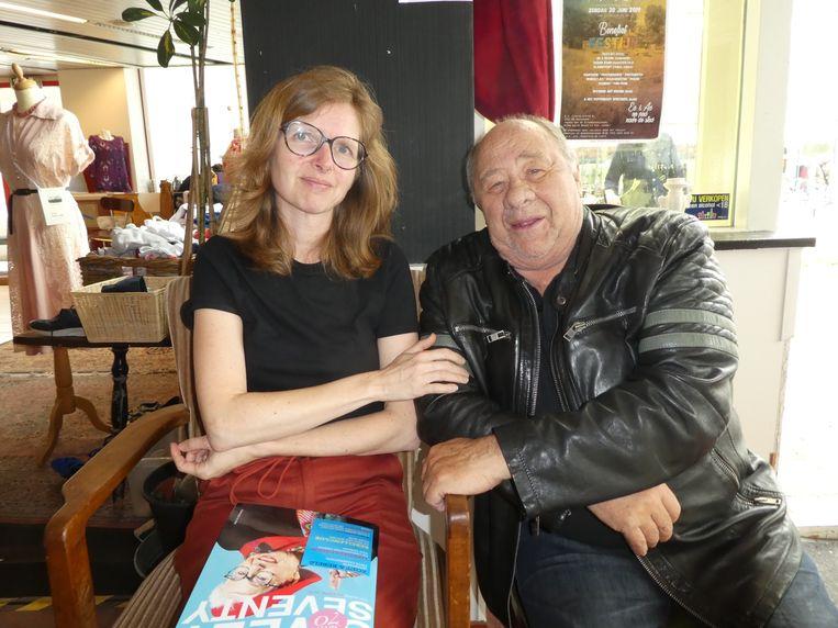 Sweet70-hoofdredacteur Laura Jansma en acteur Frits Lambrechts, 82, gezond, maar wel wat slijtage.