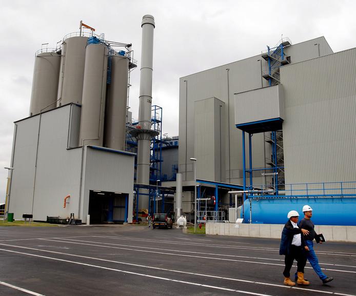De biomassacentrale in Moerdijk. De centrale de grootste ter wereld.
