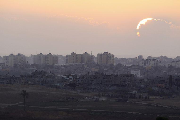Het noorden van de Gazastrook vanaf de Israëlische grens Beeld Reuters