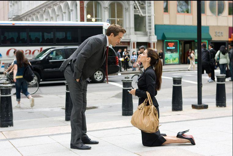 Ryan Reynolds en Sandra Bullock in 'The Proposal' (2009)