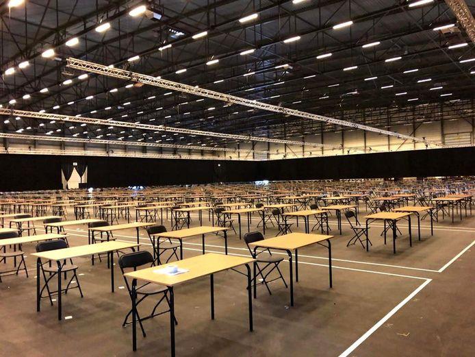 Flanders Expo staat klaar om de studenten op te vangen.