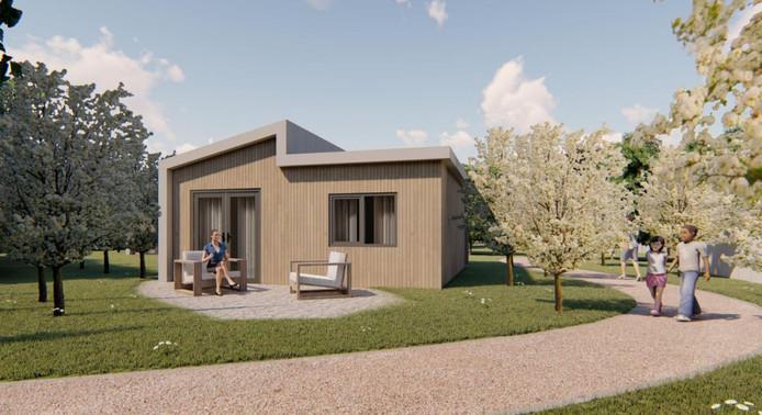 Avoned uit Ridderkerk heeft de Tiny Houses ontworpen die in Oud-Beijerland komen.