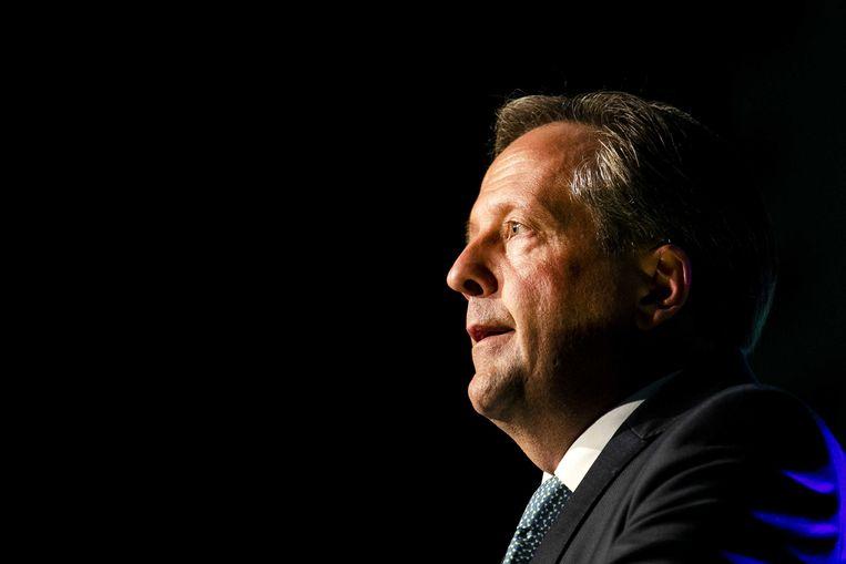 D66-leider Alexander Pechtold kondigt zijn vertrek aan op het partijcongres, 6 oktober 2018. Beeld ANP