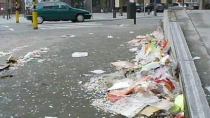 """""""Afval achtergebleven na klimaatbetoging"""" blijkt afval van doortocht carnavalstoet in Hasselt te zijn"""