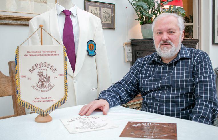 Meesterbanketbakker op rust Dirk De Beule: zijn bakkersvereniging haalt net niet de honderdste verjaardag.