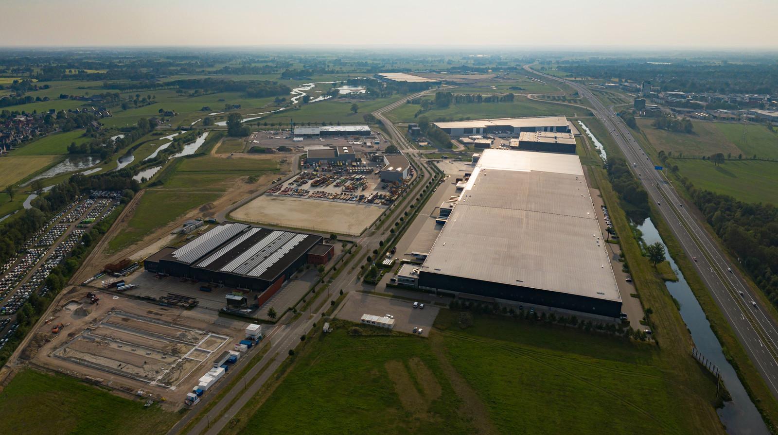 XL businesspark bij Almelo in vogelvlucht.