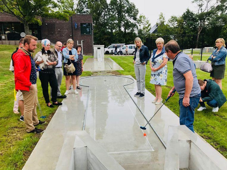Minigolf aan Dendergalm in Gijzegem.