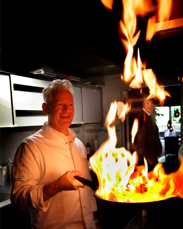 Chef-kok en eigenaar René Tichelaar van Gieser Wildeman.