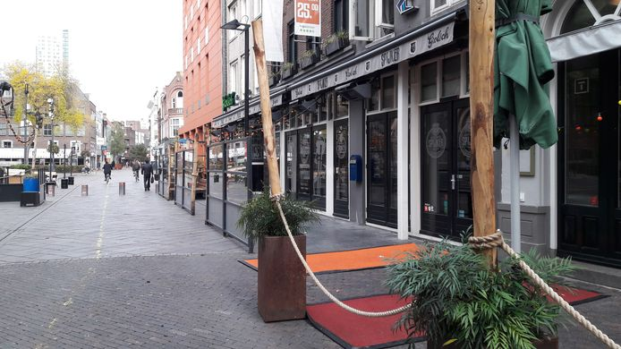 Binnenstad Eindhoven bij het begin van de tweede  lockdown. Stratumseind.