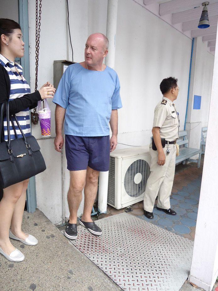 Johan van Laarhoven in 2015 in het gevangenisziekenhuis in de Thaise hoofdstad Bangkok.