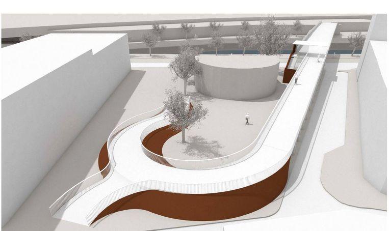 Zo zal de fiets- en voetgangersbrug over de Dender er gaan uitzien.