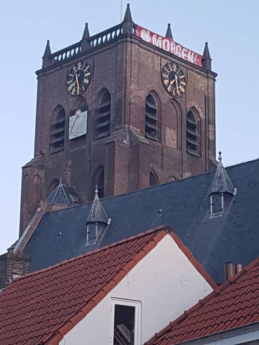 Spandoek kerk Geertruidenberg Morgen!