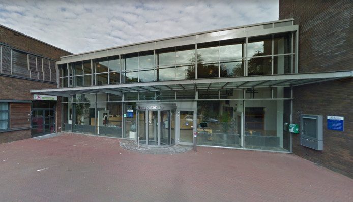 Het gemeentehuis van Aa en Hunze in Gieten