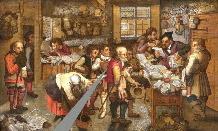 Pieter Bruegel de Jonge. De Boerenadvokaat.