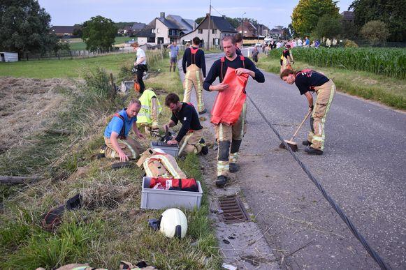 De brandweermannen leverden goed werk af.