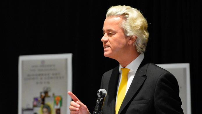 Wilders spreekt op de bijeenkomst in Garland, Texas