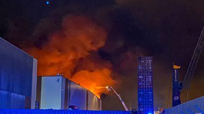 Zware brand in Antwerpse haven na zes uur blussen onder controle
