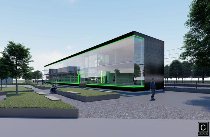 Het batterij-huis zou een opvallend gebouw in het stationsgebied zijn geweest. Misschien zelfs een impuls voor meer vernieuwing, reageerde de welstandscommissie enthousiast op het ontwerp van Lars Courage.