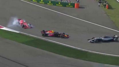 'Mad Max' Verstappen doet bijnaam wéér alle eer aan met onbezonnen manoeuvre, dat tot aanrijding leidt en Vettel nekt