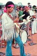 Jimi Hendrix op Woodstock.