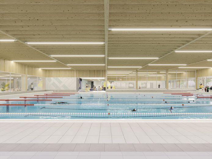 Impressie: Zo komt het wedstrijdbad in het nieuwe binnensportcomplex van Zaltbommel eruit te zien.