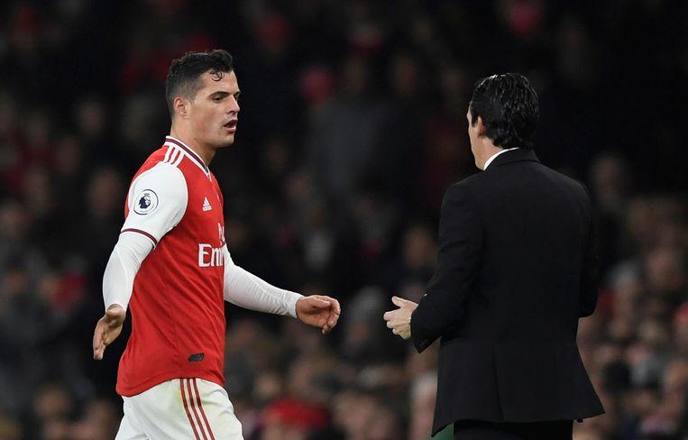 Granit Xhaka is niet langer de aanvoerder van Arsenal.