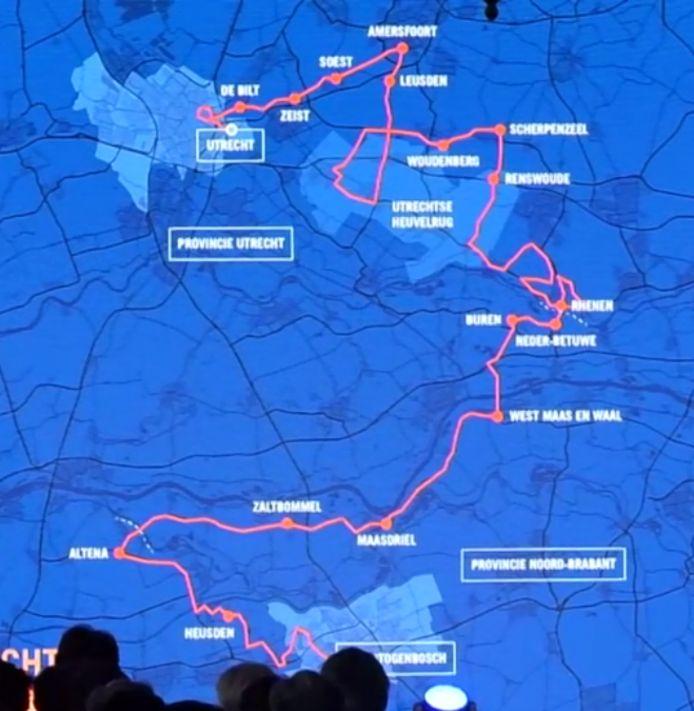 Route van de Ronde van Spanje door  Nederland.
