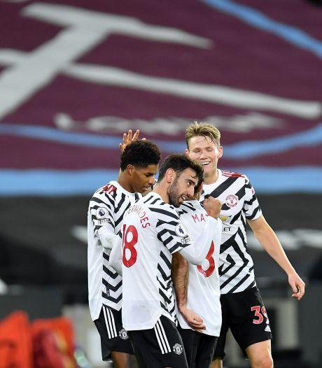 Man United wint dankzij sterke slotfase, Van de Beek in de rust gewisseld