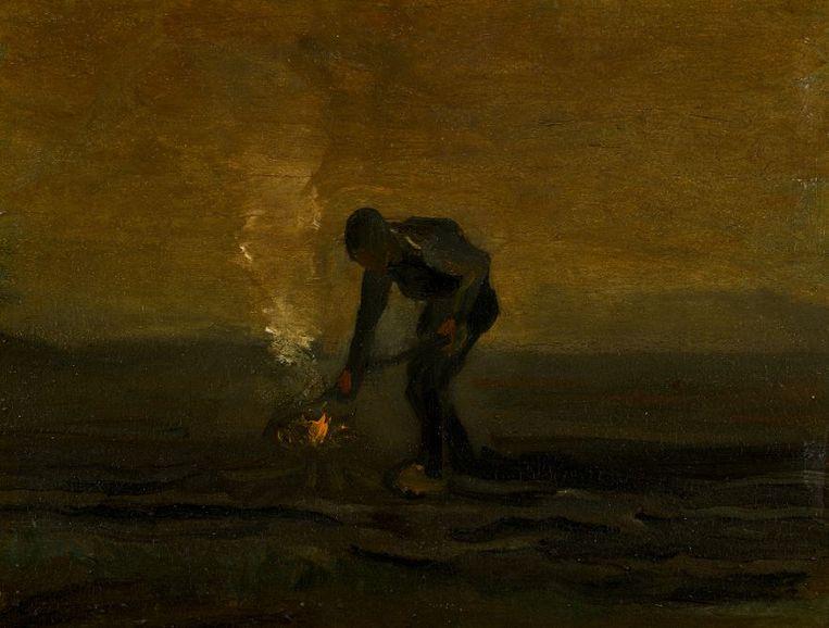 Vincent van Gogh, Boer onkruid verbrandend (1883). Beeld Sotheby's