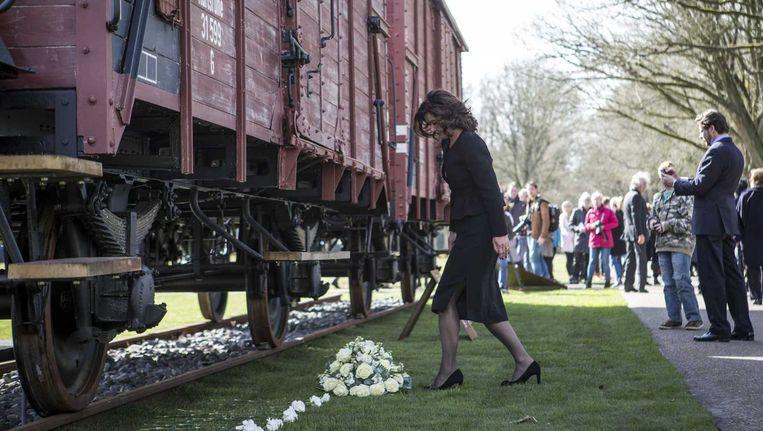 Herdenking van de bevrijding van Westerbork. Beeld anp
