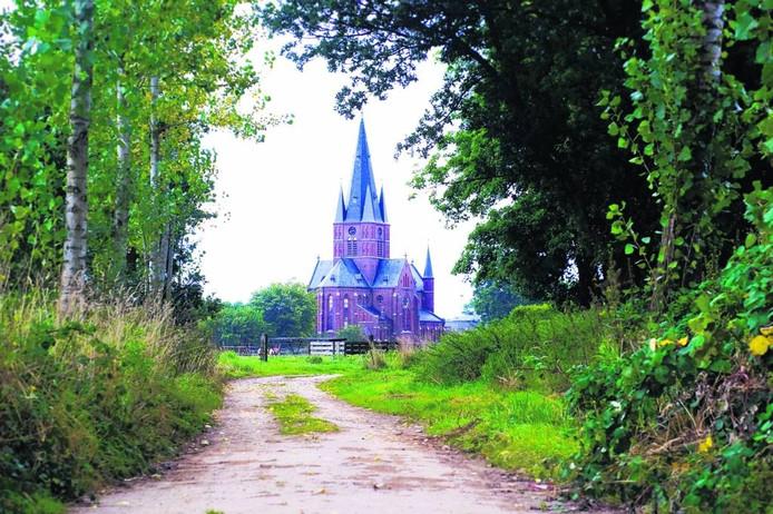 De kerk in Bergharen.