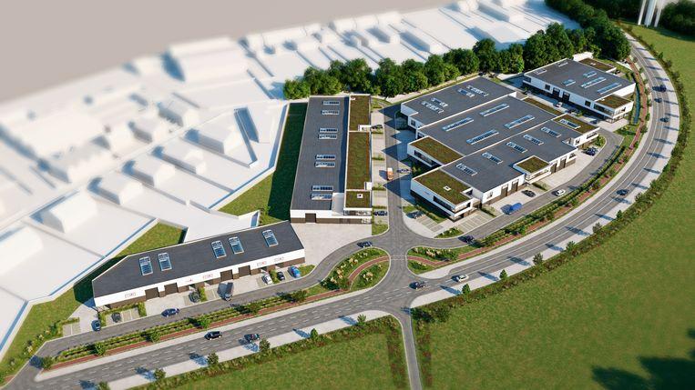 Een 3D-ontwerp toont hoe de site Gursten Velt er mogelijk in de toekomst uit kan zien.