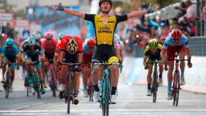 Sterke Battaglin zegeviert op hellende aankomst in Giro, geen top vijf voor Wellens