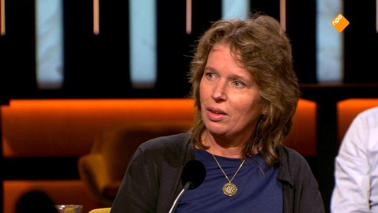 Trijntje Boes, de moeder van Tamar, in Op1. Beeld EO