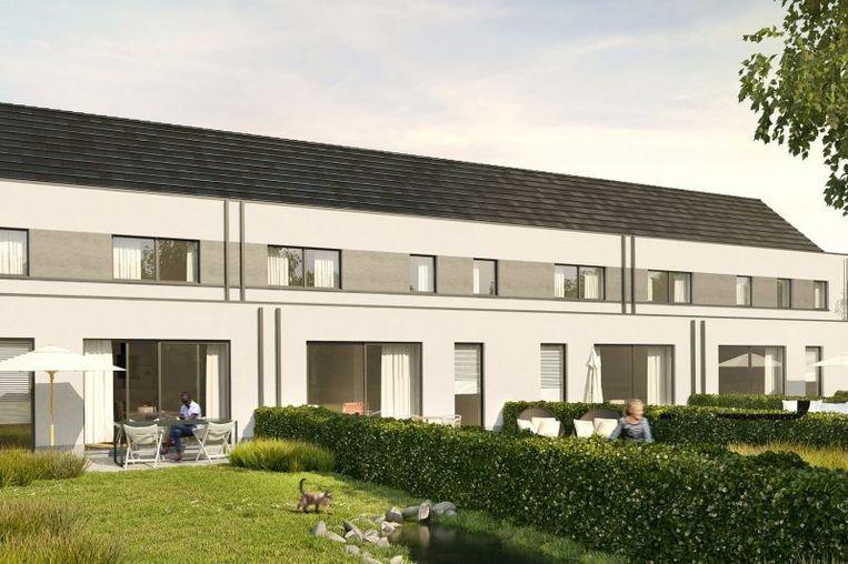 De woningen van project Achterdries hebben westelijk georiënteerde tuinen.